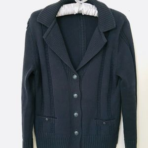 Brooks Brothers navy cardigan lg
